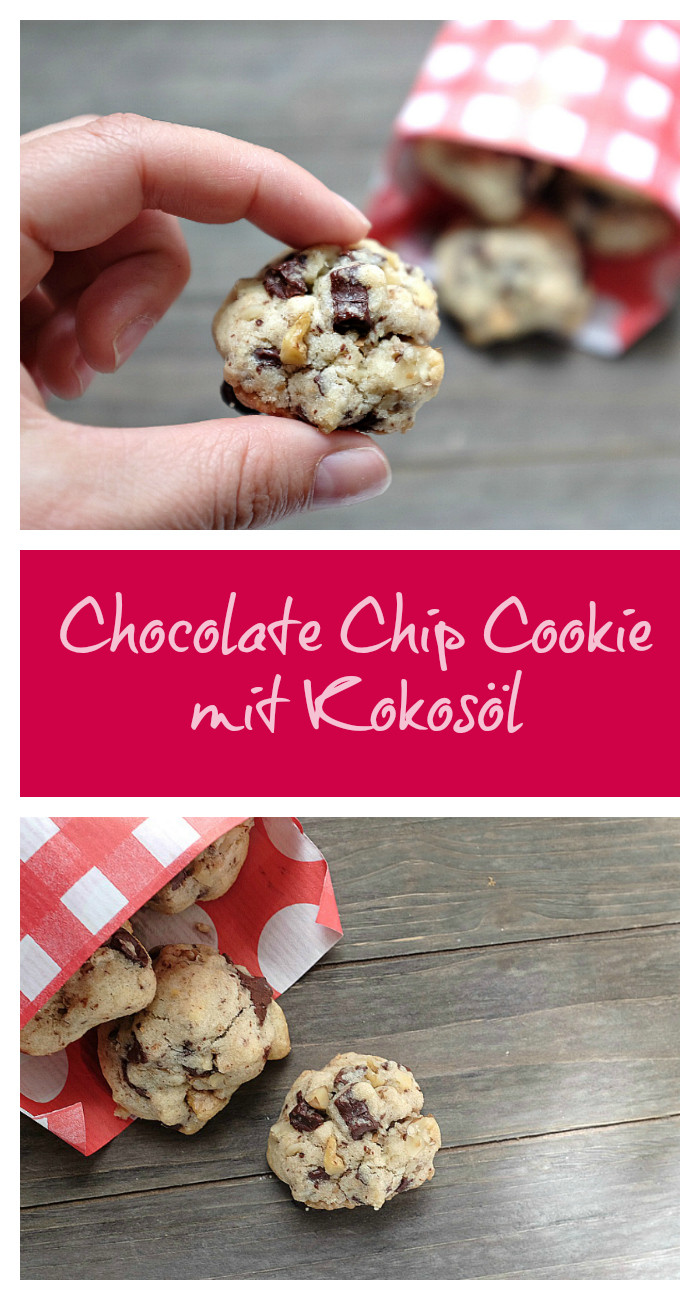 Chocolate Chip Cookies mit Kokosöl Pinterest