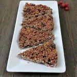 Weihnachtliche Spekulatius-Quinoa-Schoko-Riegel aus nur 4 Zutaten